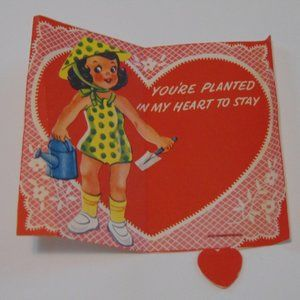 1940's Paper Valentine -  You're Planted Garden